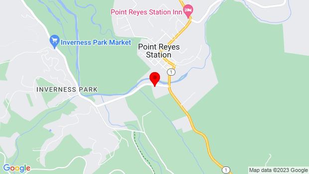 Google Map of 11191 Sir Francis Drake Blvd., Point Reyes Station, CA 94956