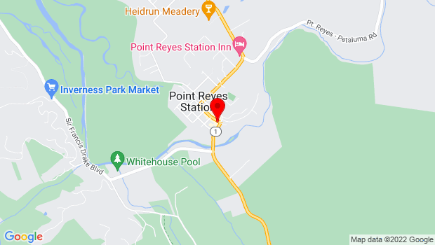 Google Map of 11101 Highway One, Point Reyes Station, CA 94956