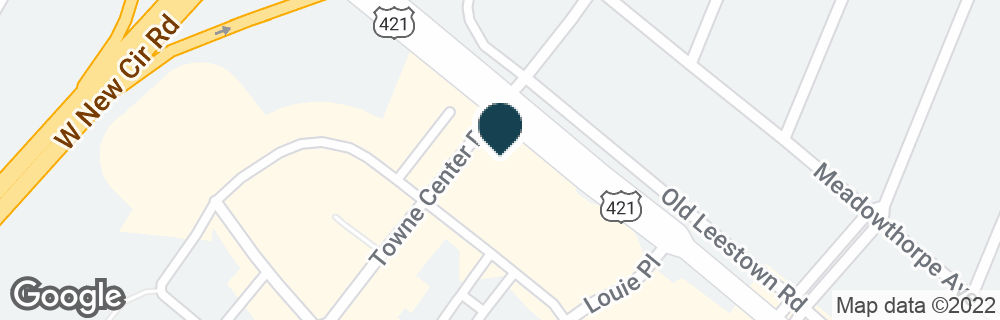 Google Map of110 TOWNE CENTER DR
