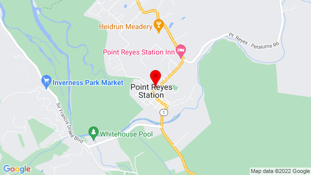 Google Map of 11431 State Route One, Point Reyes Station, CA 94956