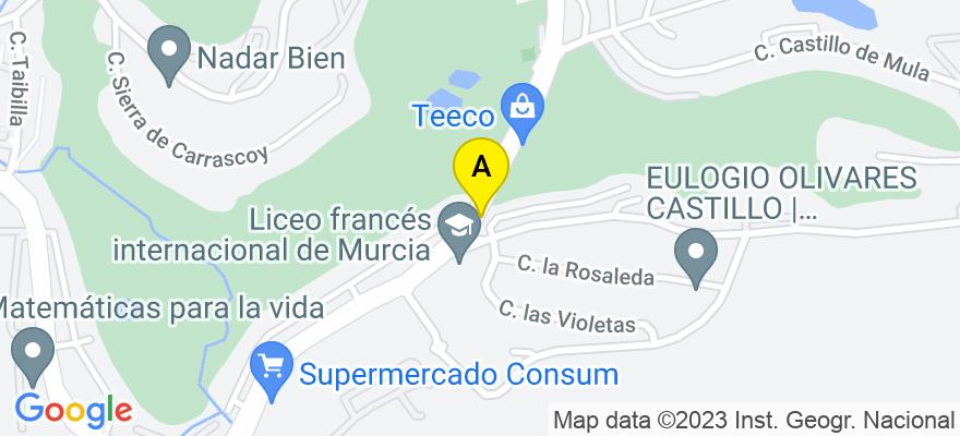 situacion en el mapa de . Direccion: Avda. Del Golf N5. 3F, 30506 Molina de Segura. Murcia