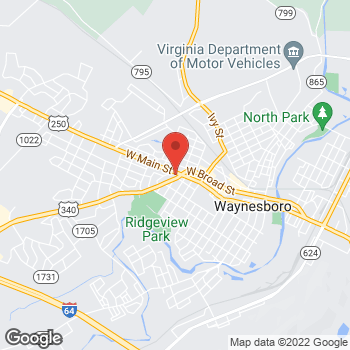 Map of Rite Aid at 101 Rosser Avenue, Waynesboro, VA 22980