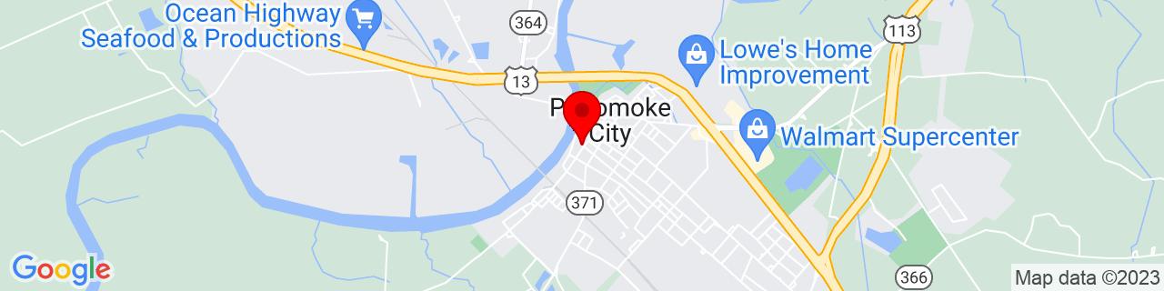 Google Map of 38.0737628, -75.57068559999999