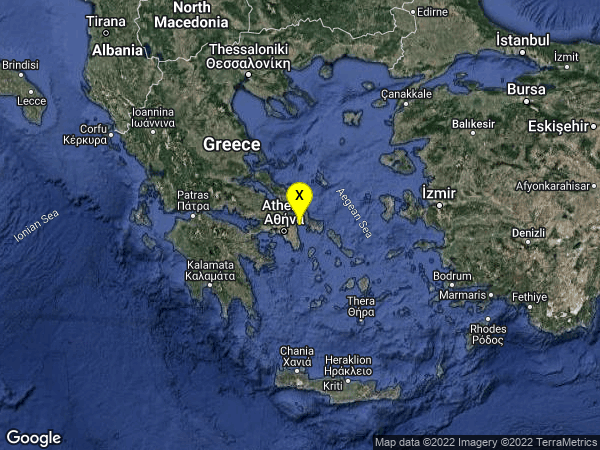 earthquake 7km E of Nea Makri, Greece