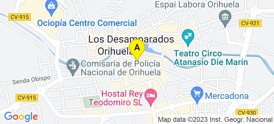 situacion en el mapa de . Direccion: C/ SAN PASCUAL, Nº 2, 2º D, 03300 Orihuela. Alicante