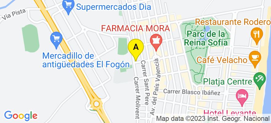 situacion en el mapa de . Direccion: Calle San Eugenio 1, 5º-5, 03140 Guardamar del Segura. Alicante