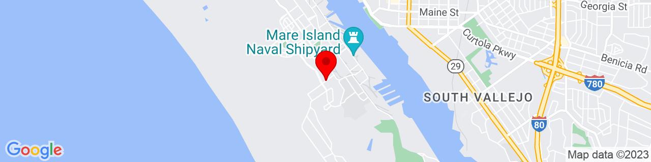 Google Map of 38.0898306, -122.2690275