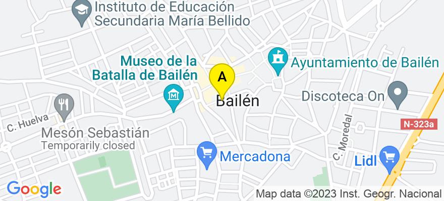 situacion en el mapa de . Direccion: Nueva,13, 23710 Bailén. Jaén