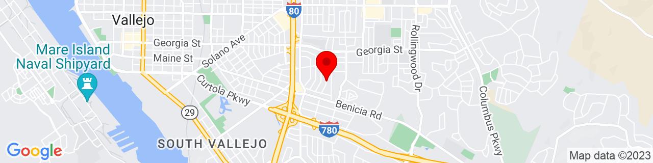 Google Map of 38.0959333, -122.2241193