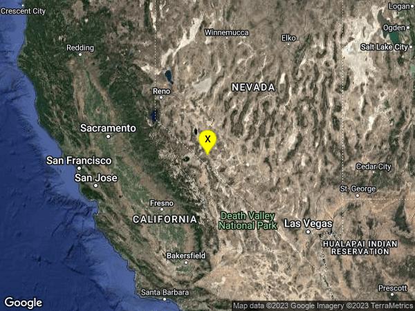 earthquake 32 km NNE of Benton, California
