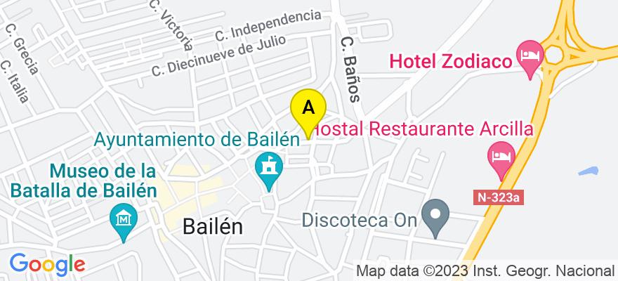 situacion en el mapa de . Direccion: CL Doctor Fleming 15 bajo, 23710 Bailén. Jaén
