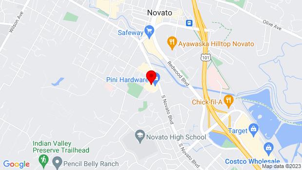 Google Map of 1535 S Novato Blvd, Novato, CA 94947