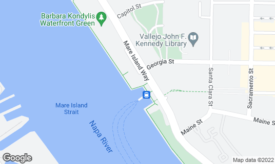 Map of Mare Island Brewing Co. at 289 Mare Island Way Ste G Vallejo, CA