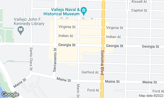 Map of Town House at 401 Georgia St Vallejo, CA
