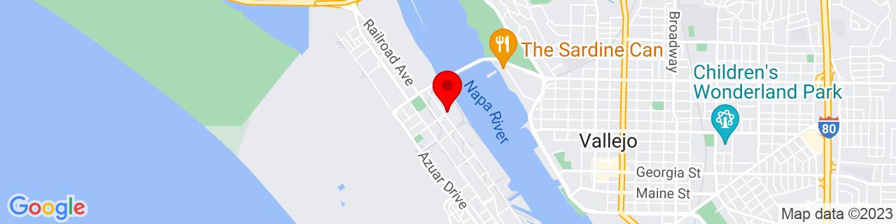 Google Map of 38.106819, -122.2763684