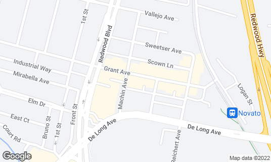 Map of Finnegan's at 877 Grant Ave Novato, CA