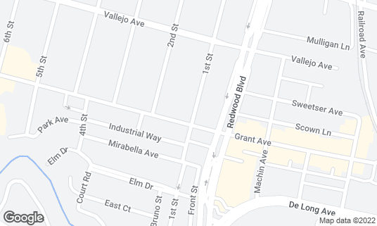 Map of Browns Binyerd at 1009 1st St Novato, CA