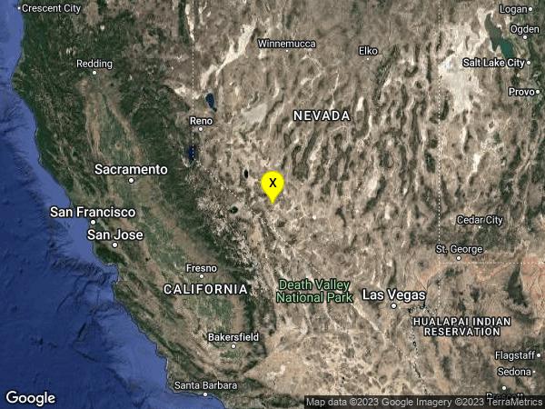 earthquake 30 km S of Mina, Nevada