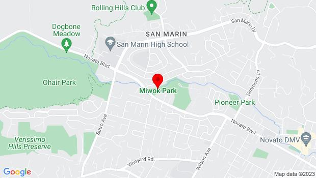 Google Map of 2200 Novato Blvd., Novato, CA 94947