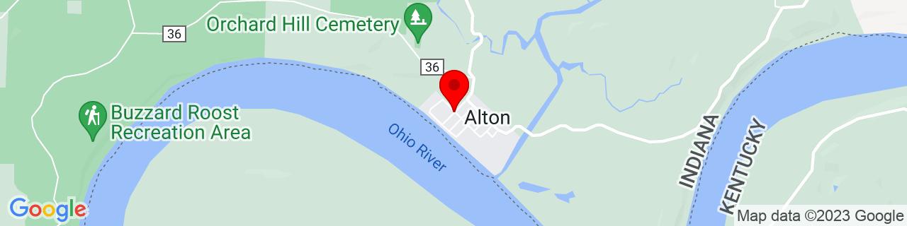 Google Map of 38.1230057, -86.4218432