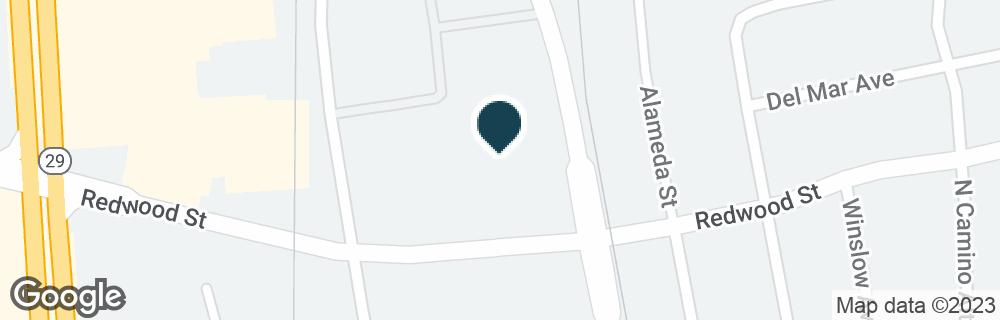 Google Map of1050 REDWOOD ST