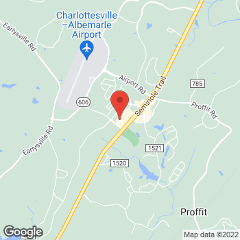 Map of Hair Cuttery at 153 Community St, Charlottesville, VA 22911