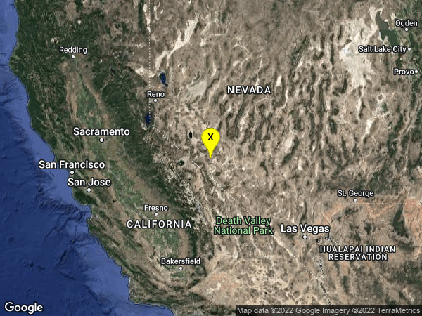 earthquake 28 km S of Mina, Nevada