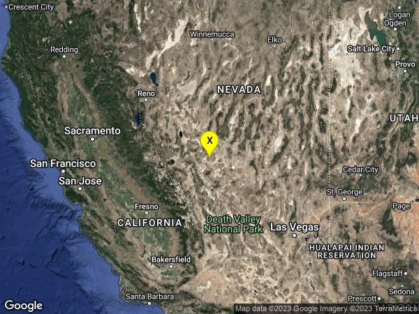 earthquake 38 km SE of Mina, Nevada