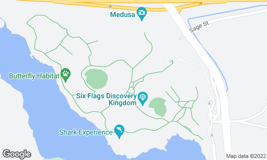 Map of Six Flags Discovery Kingdom at 1001 Fairgrounds Dr Vallejo, CA