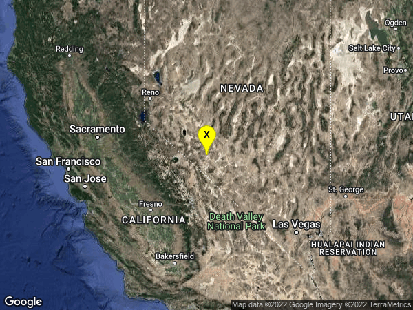 earthquake 29 km SSE of Mina, Nevada