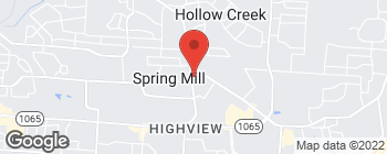 Map of 7215 Vaughn Mill Rd in Louisville
