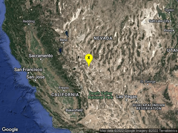earthquake 31 km SSE of Mina, Nevada