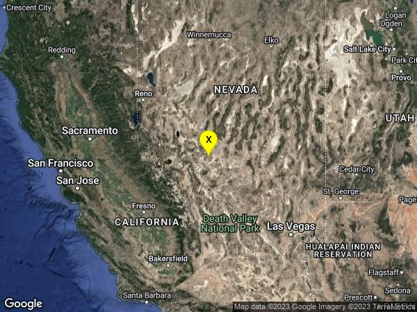 earthquake 41 km SE of Mina, Nevada