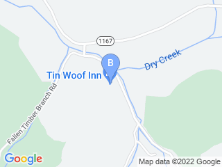 Map of Tin Woof Inn Dog Boarding options in Clearfield | Boarding