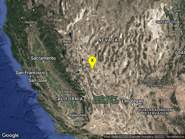 earthquake 27 km SSE of Mina, Nevada