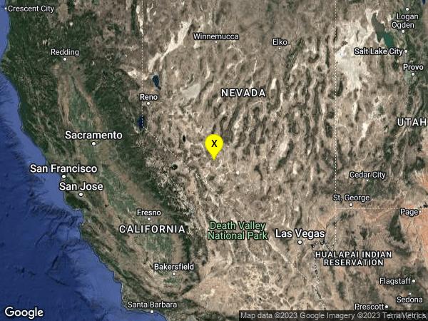 earthquake 37 km SE of Mina, Nevada
