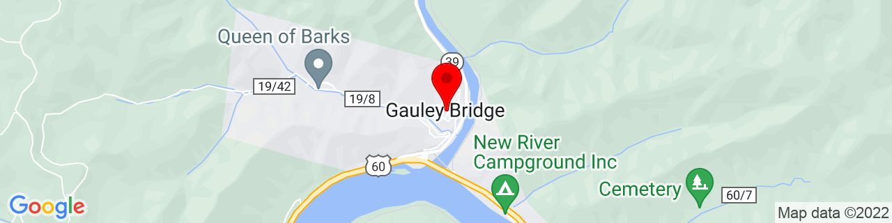 Google Map of 38.16833333333333, -81.19472222222223
