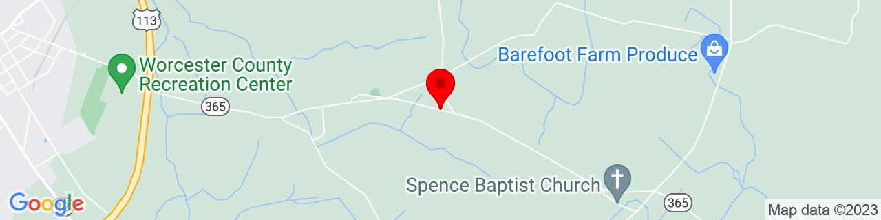 Google Map of 38.170329, -75.336714