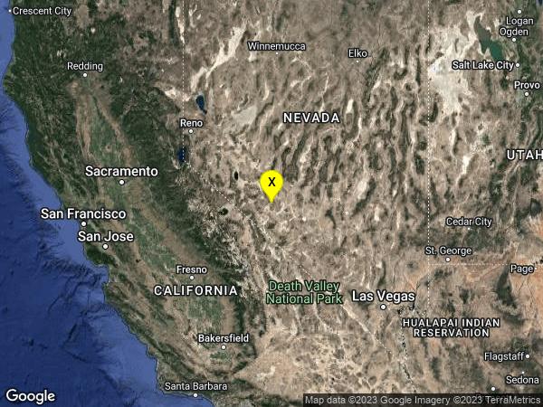 earthquake 32 km SE of Mina, Nevada