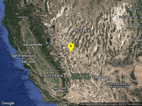 earthquake 27 km SSE of Mina, Nevada