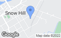 Map of Snow Hill, MD