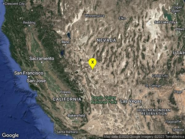 earthquake 31 km SE of Mina, Nevada