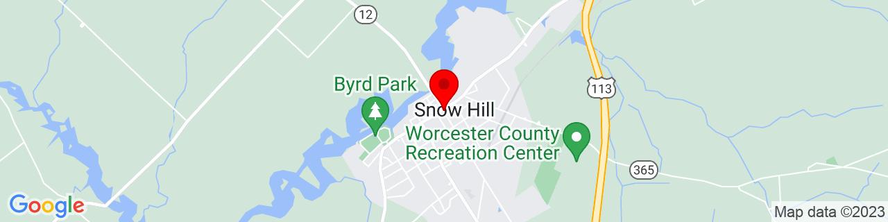 Google Map of 38.176944444444445, -75.39277777777778