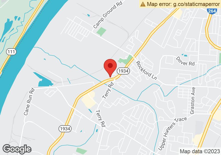Google Map of 4926 CANE RUN RD