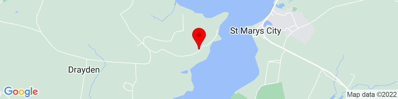 Google Map of 38.18318, -76.44995