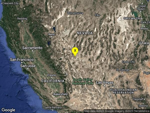 earthquake 39 km SE of Mina, Nevada