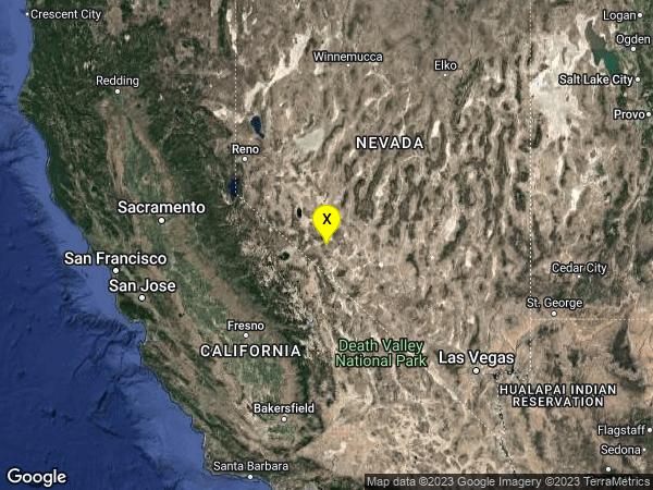 earthquake 22 km SSW of Mina, Nevada