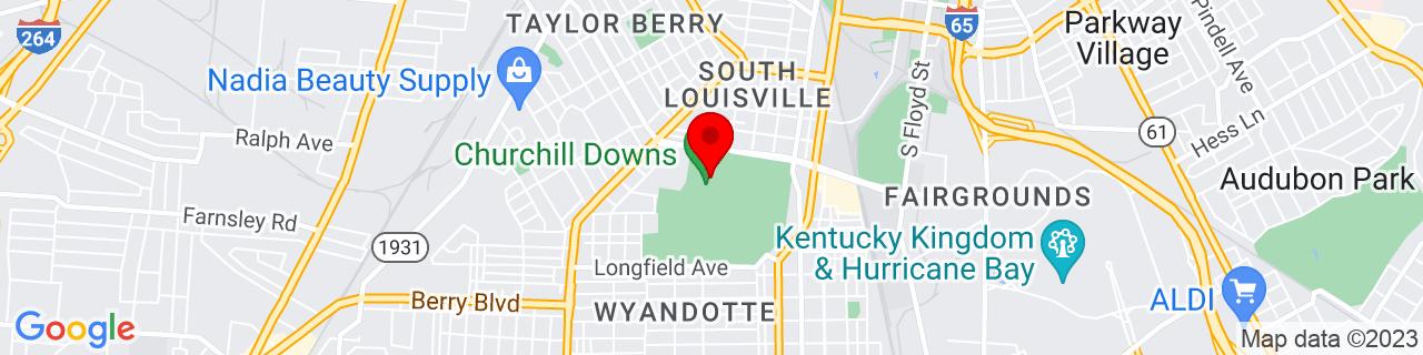 Google Map of 38.2040234, -85.7720622