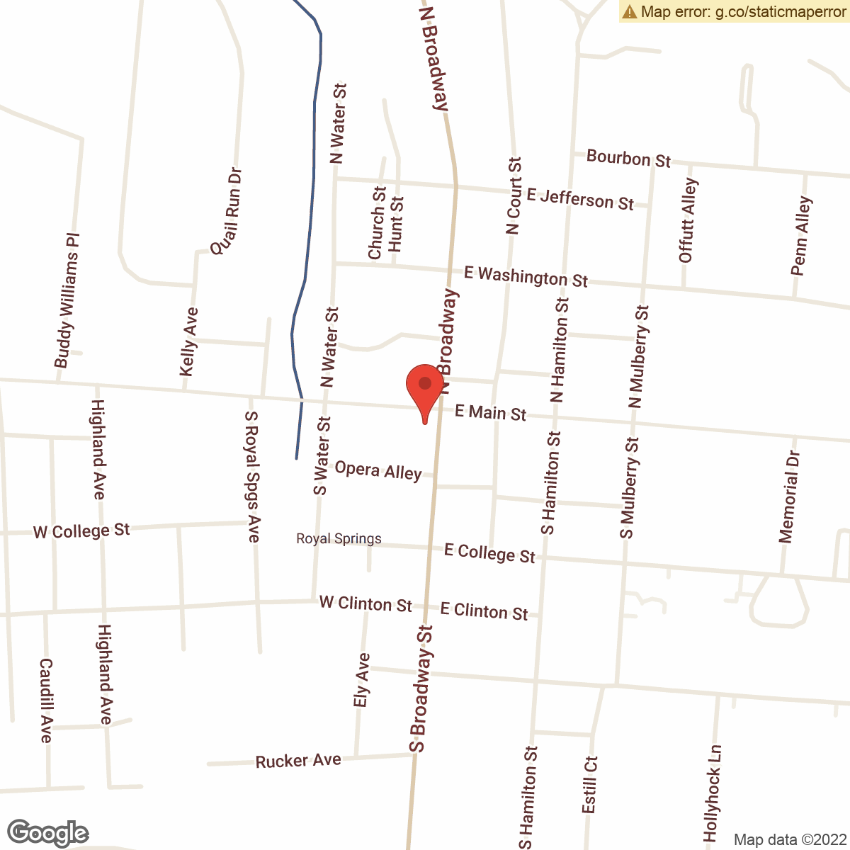 map to Central Bank ATM – Downtown Georgetown