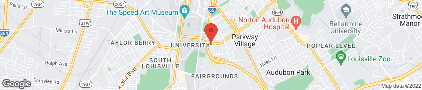Map of 434 Eastern Parkway in Louisville